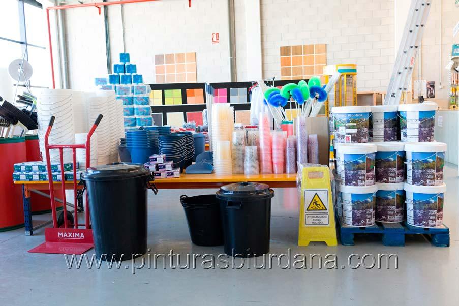 productos varios pintura plástica, ecologica, basura, guantes